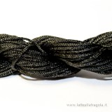 1 Metro di cordino in nylon nero da 1mm